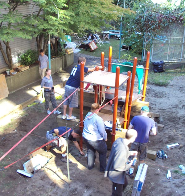 building new playground